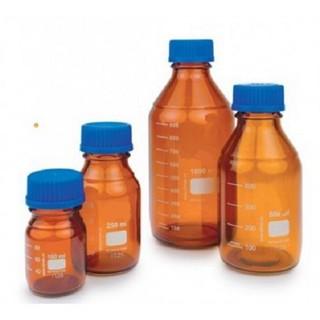 Amber schott bottles blue screw gl45 cap