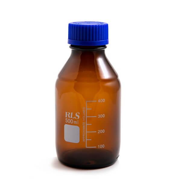 Schott Bottle Amber blue cap 500ml