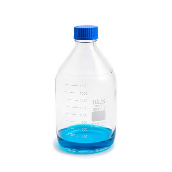Schott bottle blue cap 2000ml